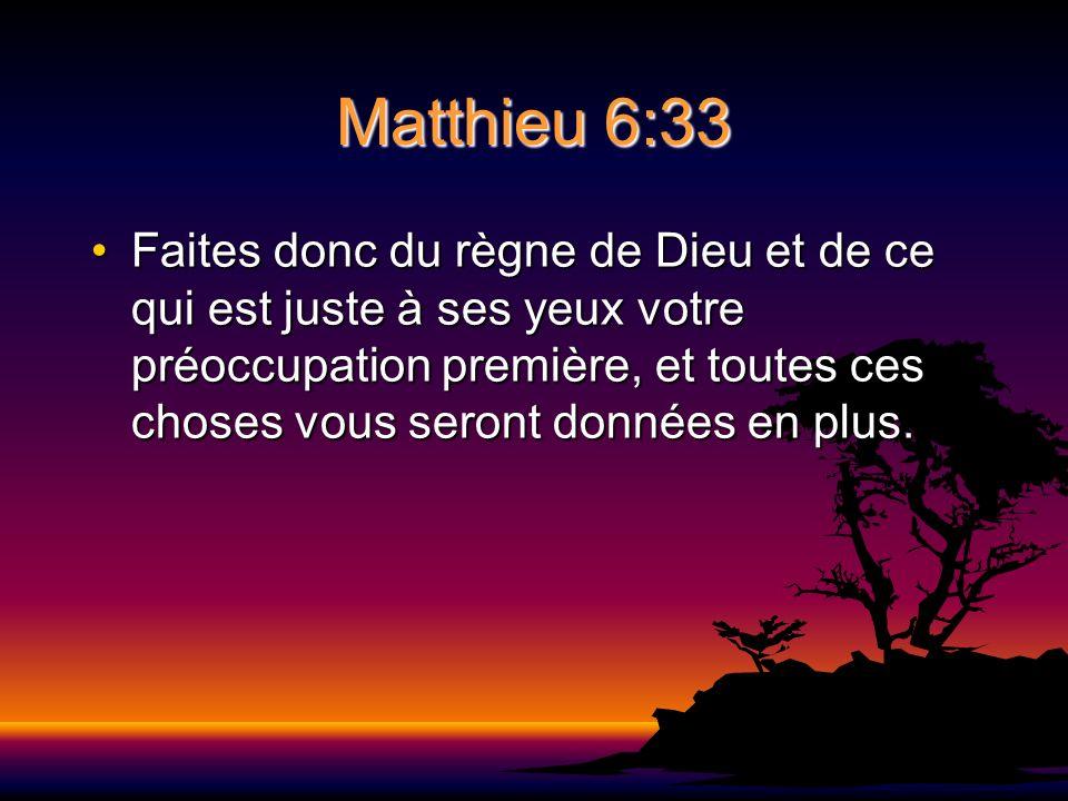 Matthieu 6:33