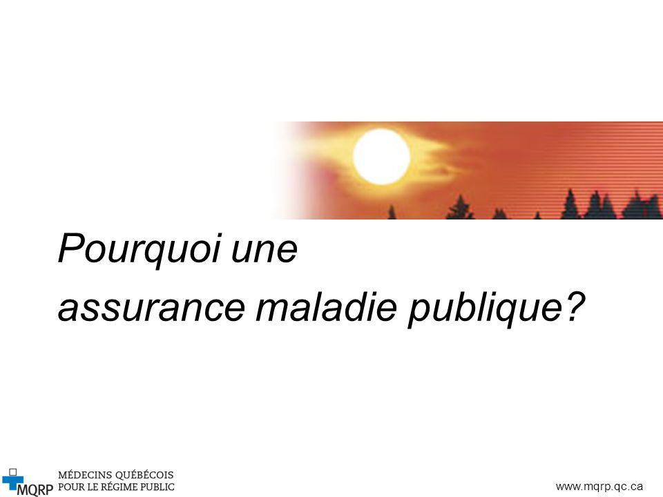 Pourquoi une assurance maladie publique