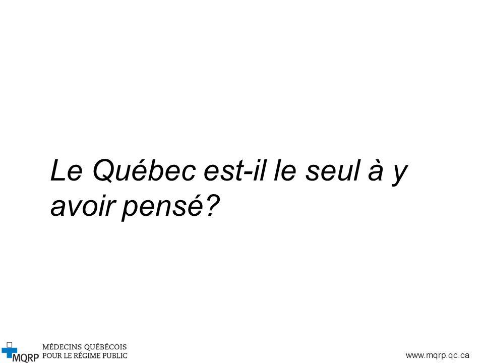 Le Québec est-il le seul à y avoir pensé
