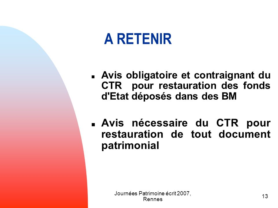 Journées Patrimoine écrit 2007, Rennes