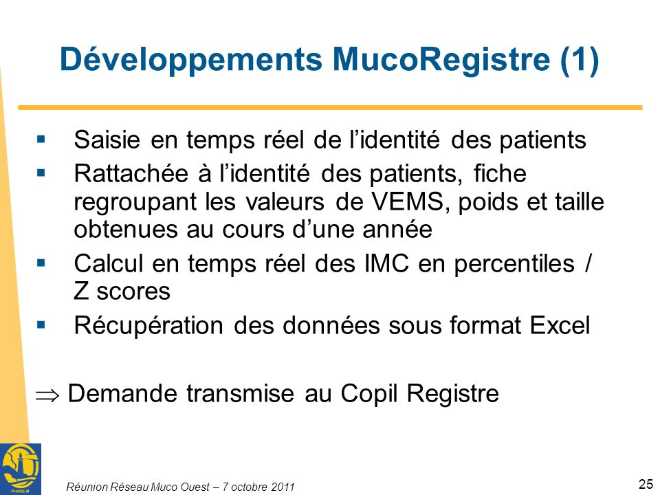 Développements MucoRegistre (1)