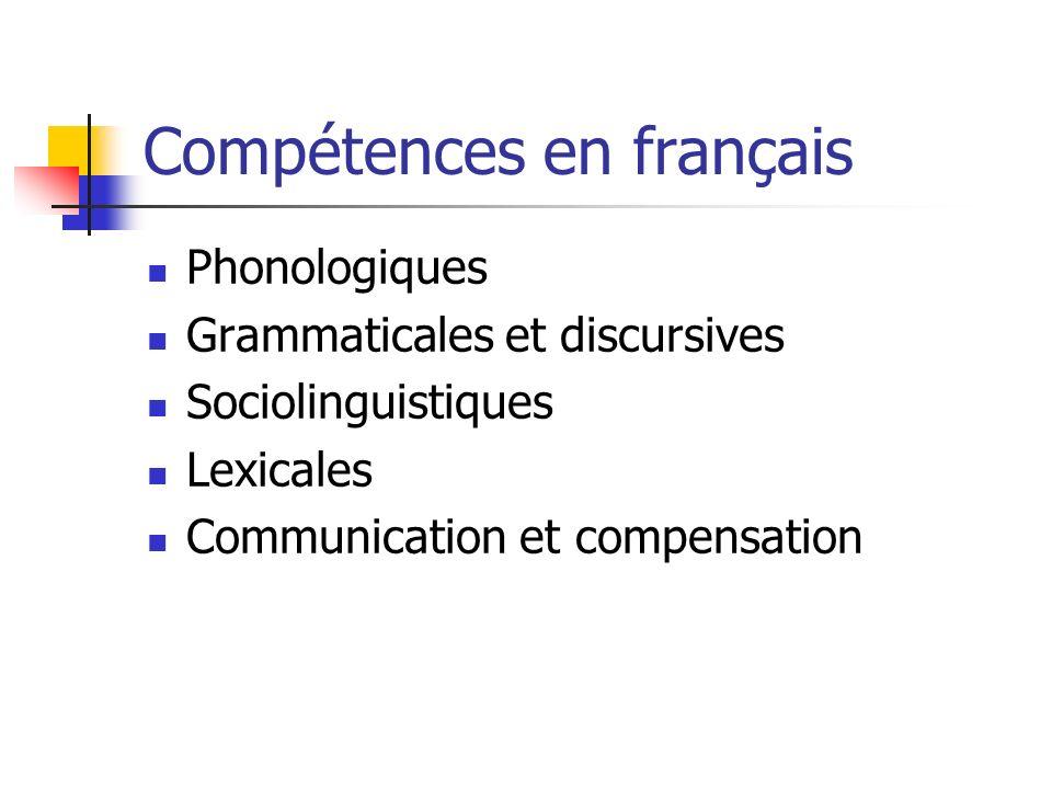 Compétences en français