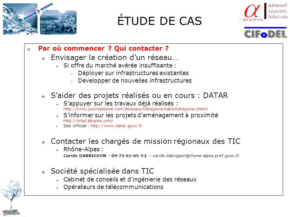 ÉTUDE DE CAS Envisager la création d'un réseau…