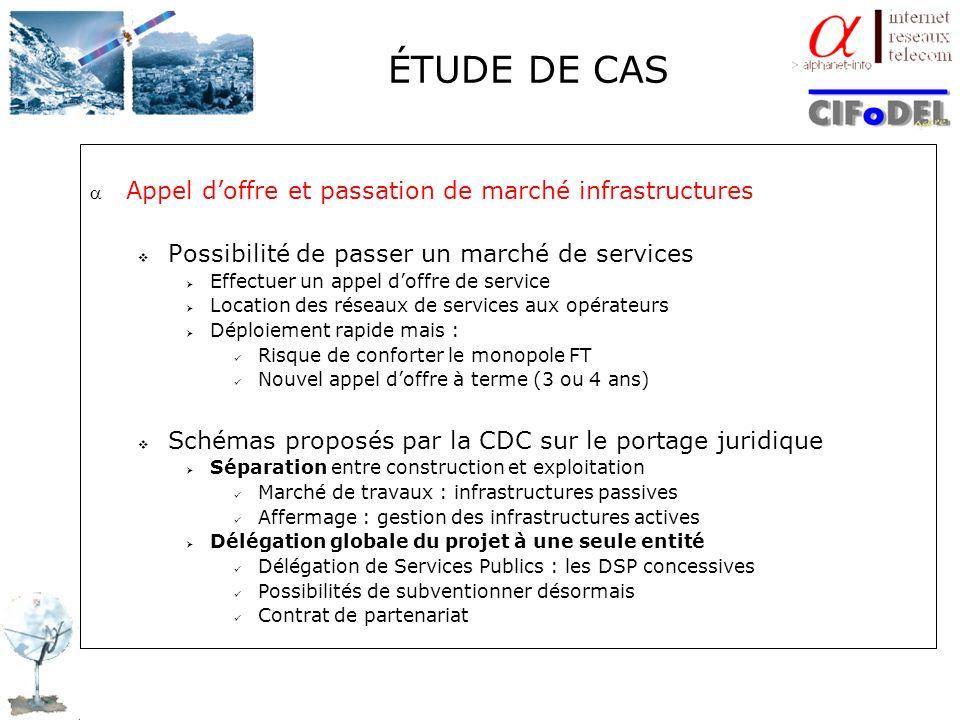 ÉTUDE DE CAS Appel d'offre et passation de marché infrastructures