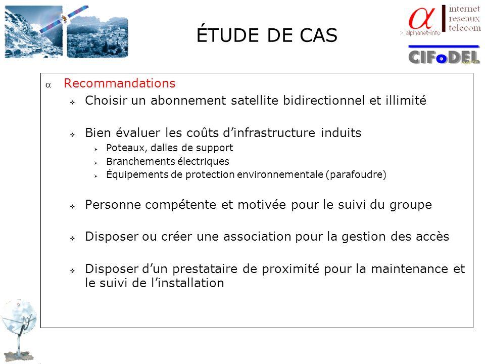 ÉTUDE DE CAS Recommandations