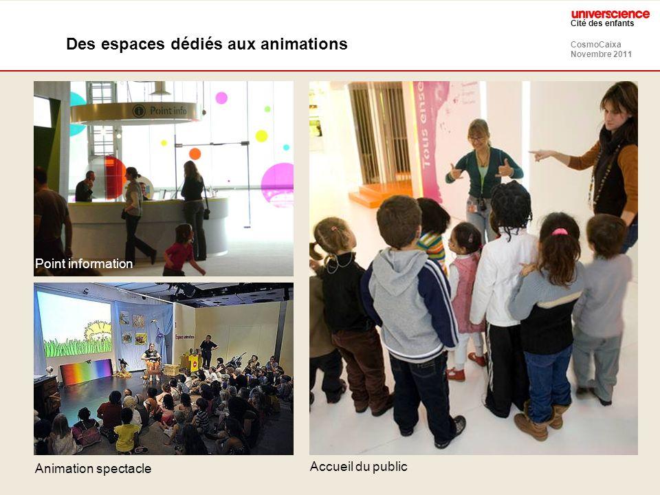 Des espaces dédiés aux animations