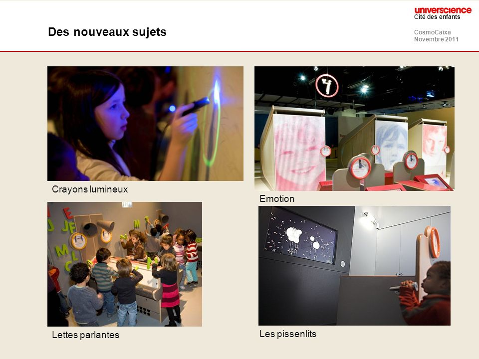 Des nouveaux sujets Crayons lumineux Emotion Lettes parlantes