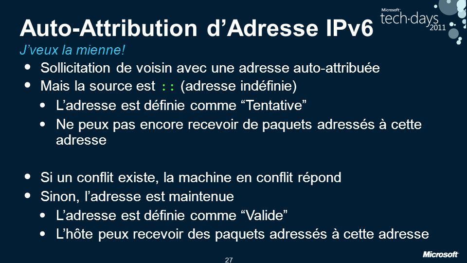 Auto-Attribution d'Adresse IPv6 J'veux la mienne!