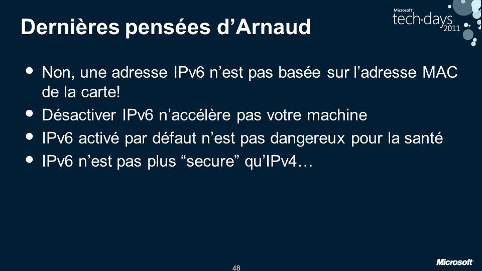 Dernières pensées d'Arnaud