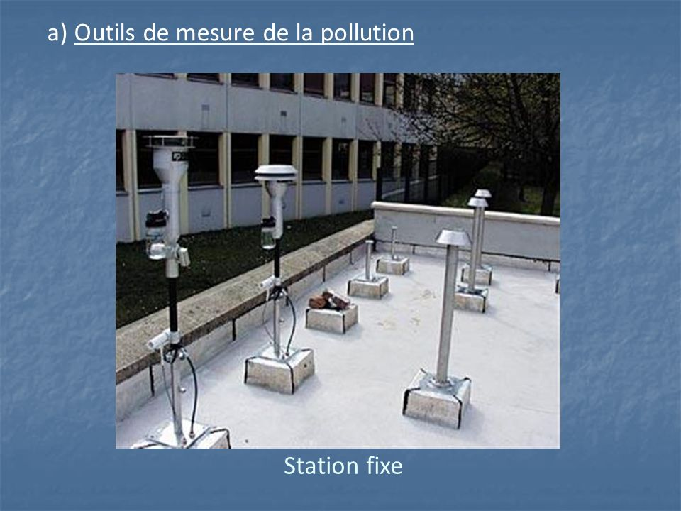 a) Outils de mesure de la pollution