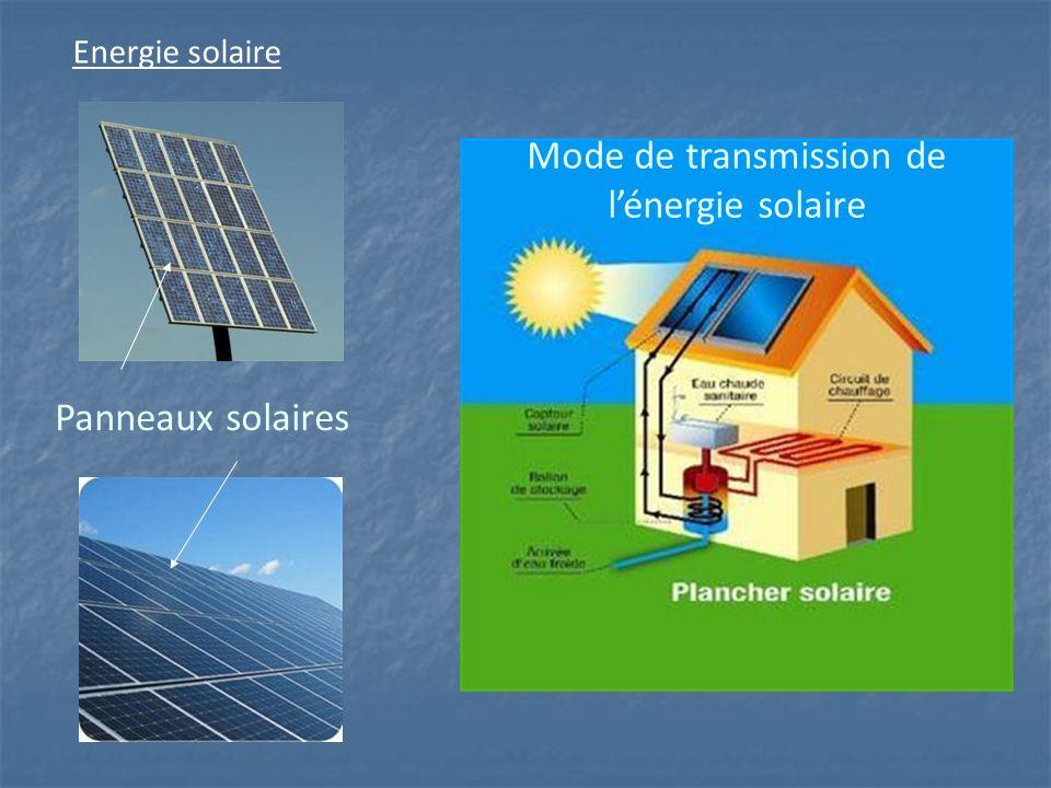 Mode de transmission de l'énergie solaire