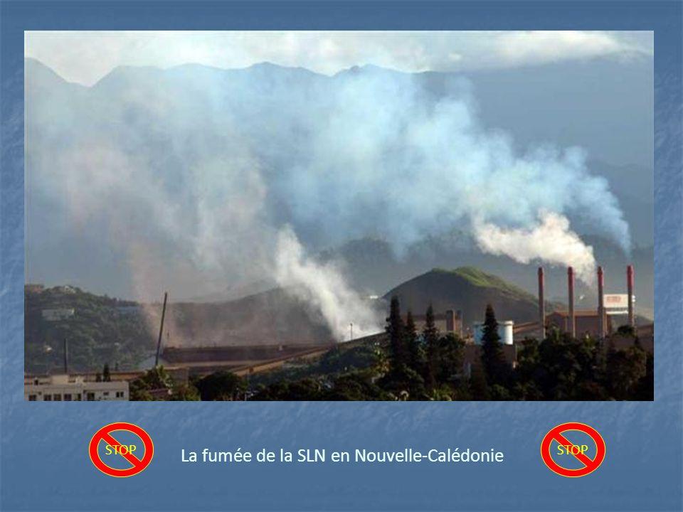 La fumée de la SLN en Nouvelle-Calédonie