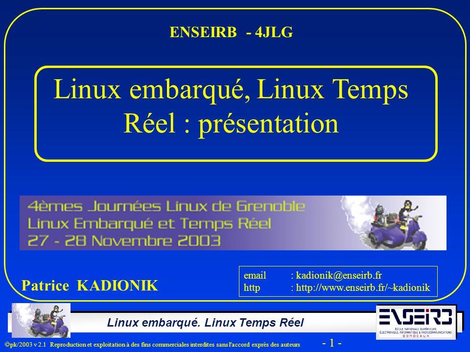 Linux embarqué, Linux Temps Réel : présentation