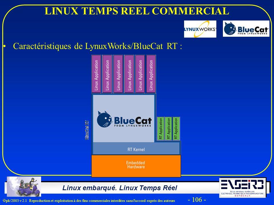 LINUX TEMPS REEL COMMERCIAL