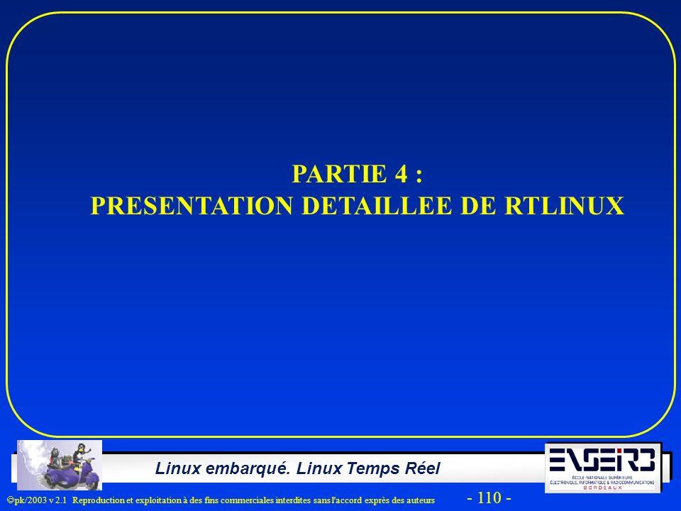 PRESENTATION DETAILLEE DE RTLINUX