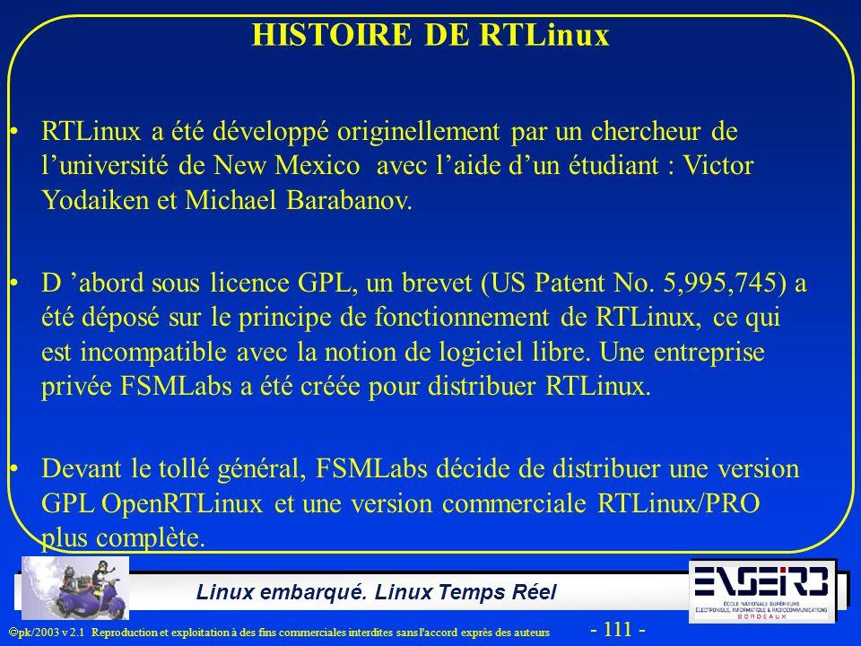 HISTOIRE DE RTLinux