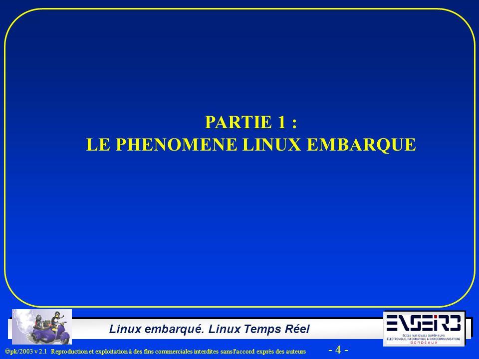 LE PHENOMENE LINUX EMBARQUE