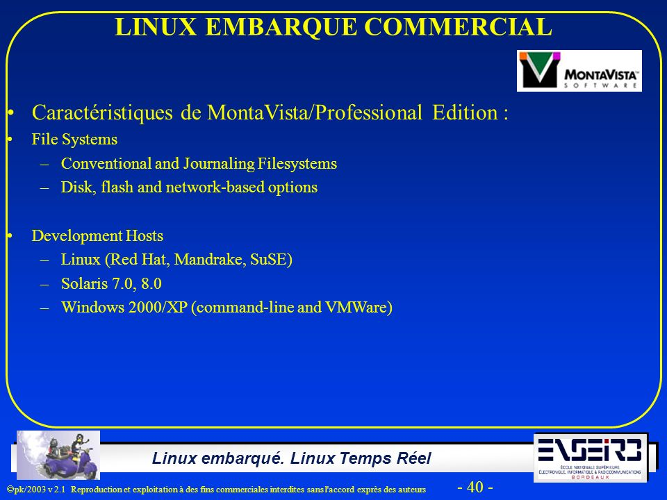 LINUX EMBARQUE COMMERCIAL