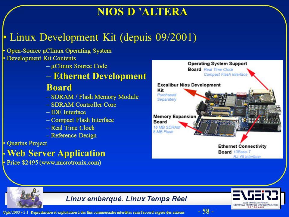 Linux Development Kit (depuis 09/2001)