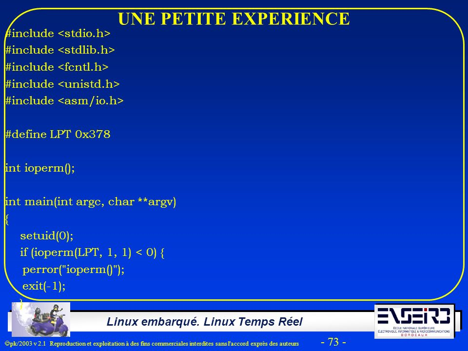 UNE PETITE EXPERIENCE #include <stdio.h>