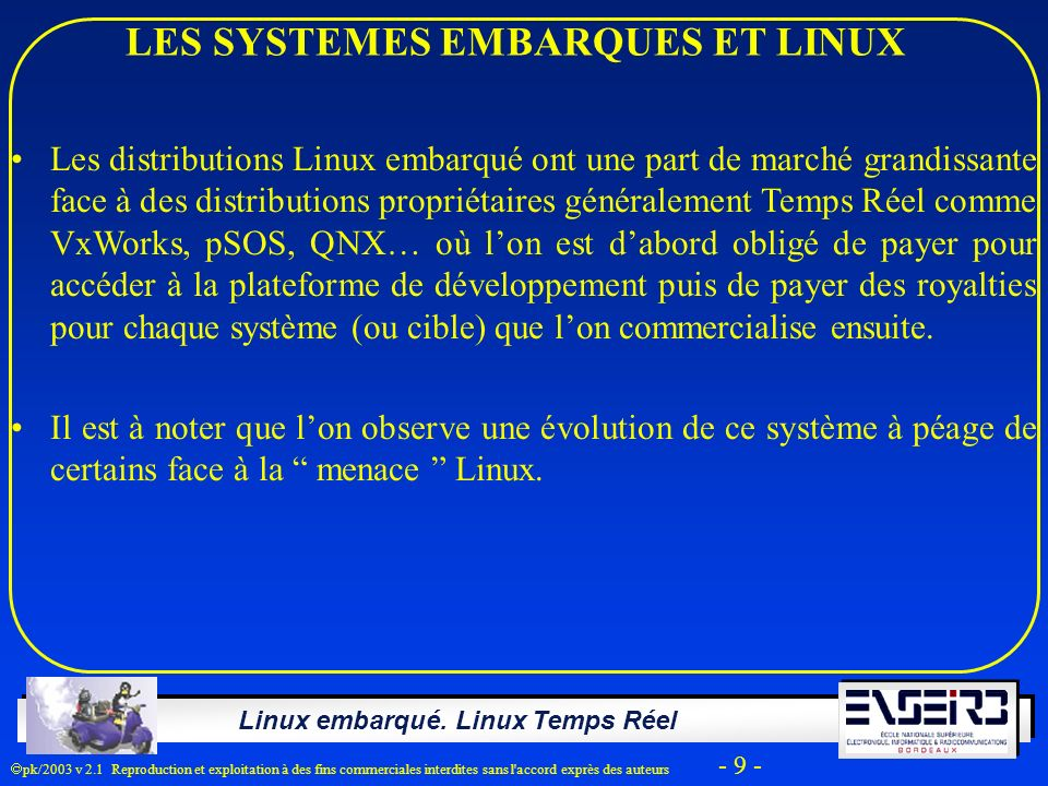 LES SYSTEMES EMBARQUES ET LINUX