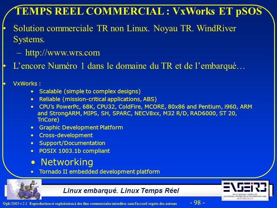 TEMPS REEL COMMERCIAL : VxWorks ET pSOS