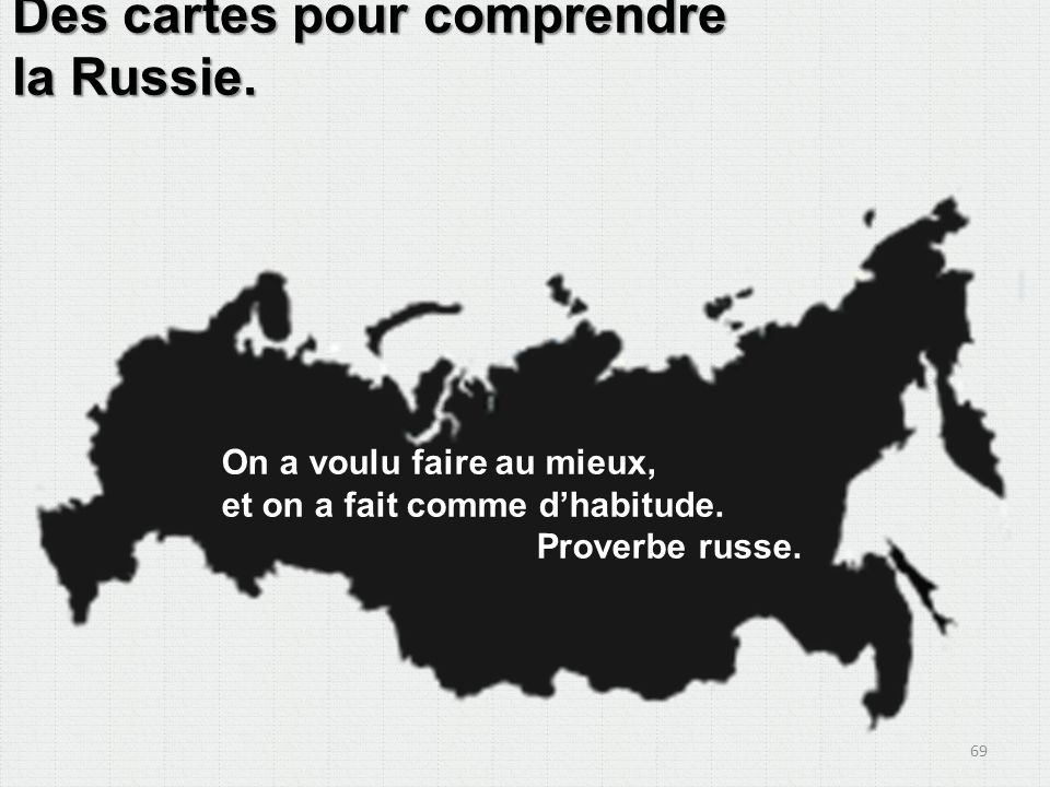 Des cartes pour comprendre la Russie.