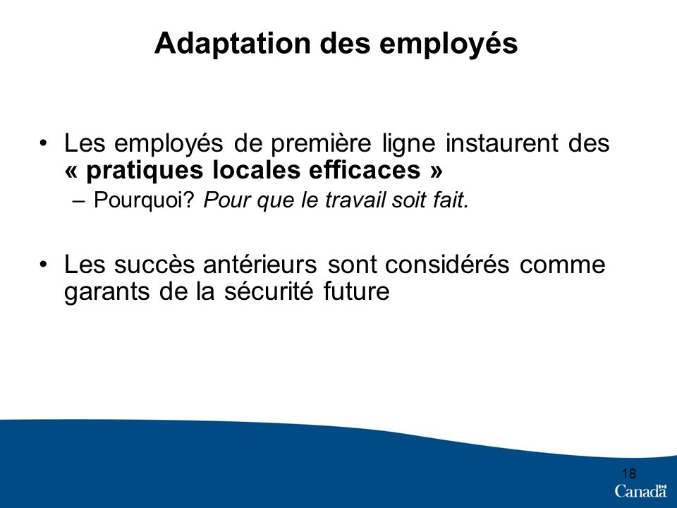 Adaptation des employés