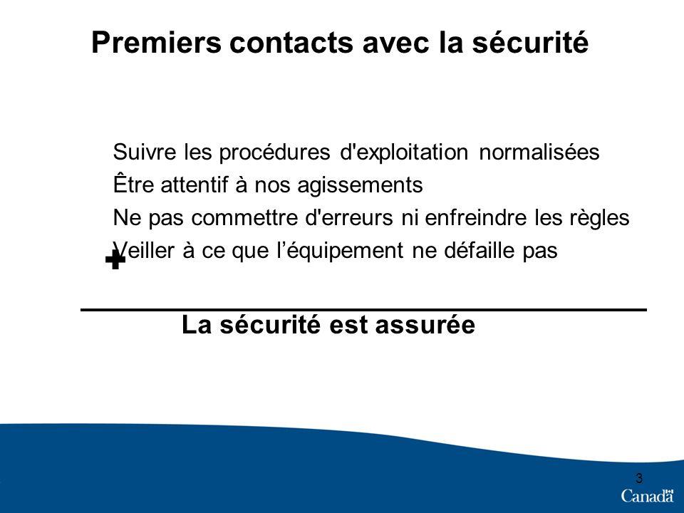 Premiers contacts avec la sécurité