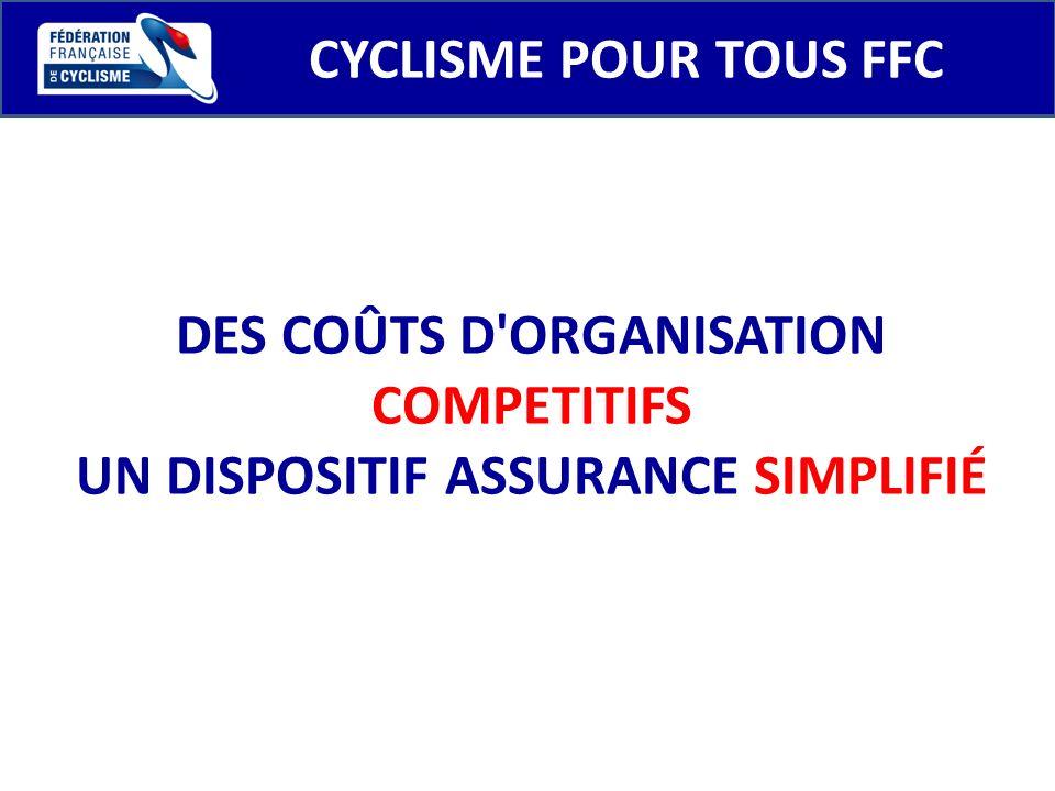 DES COÛTS D ORGANISATION COMPETITIFS UN DISPOSITIF ASSURANCE SIMPLIFIÉ