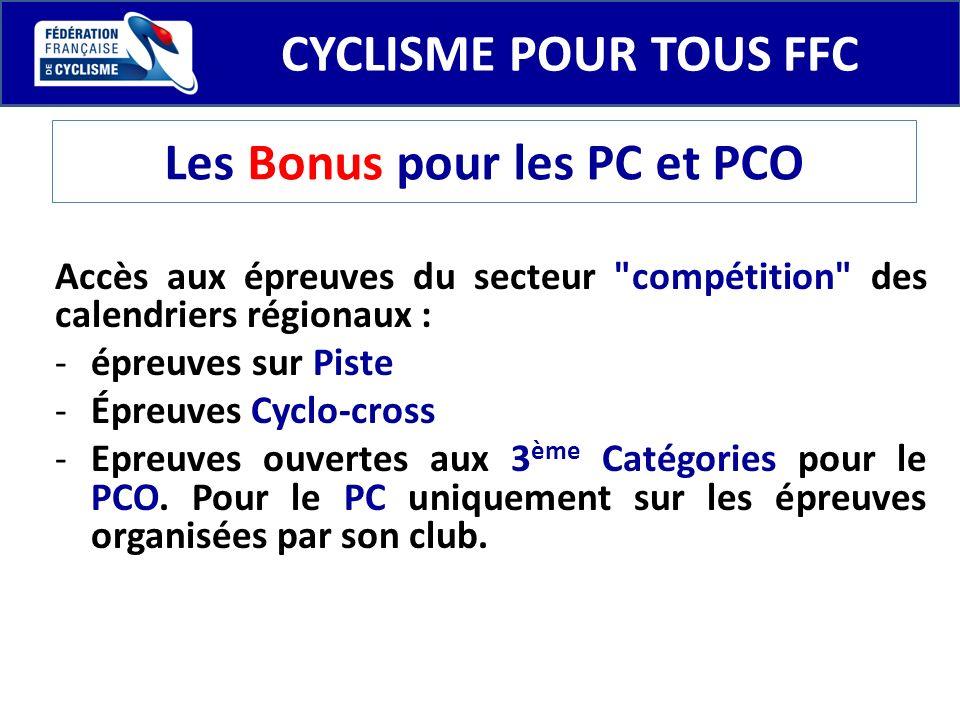 Les Bonus pour les PC et PCO