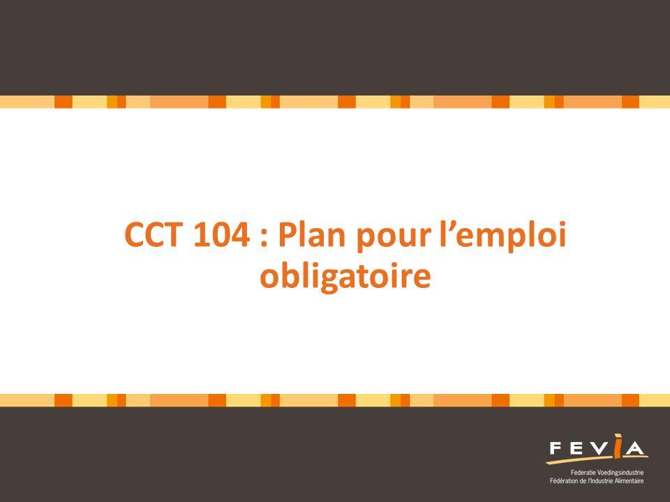CCT 104 : Plan pour l'emploi obligatoire