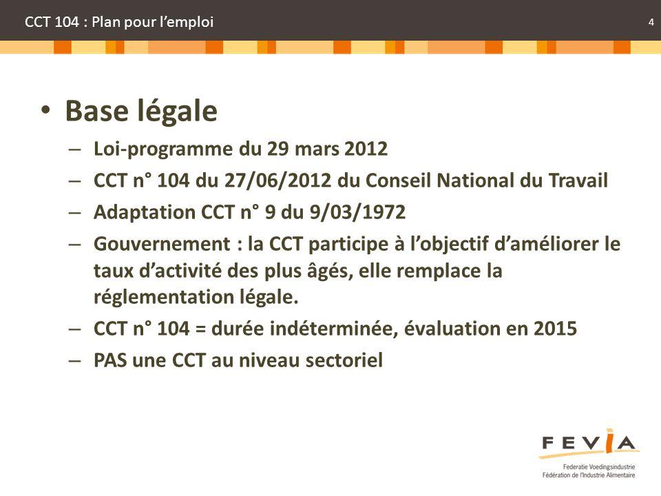 CCT 104 : Plan pour l'emploi