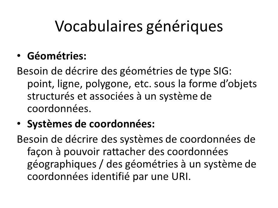 Vocabulaires génériques