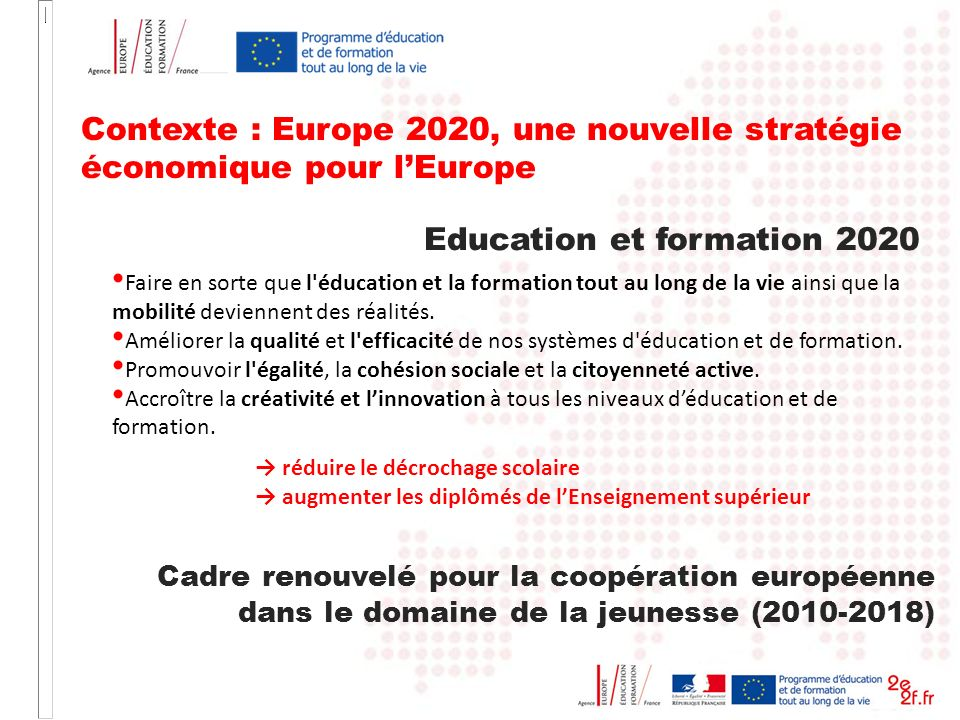 Education et formation 2020