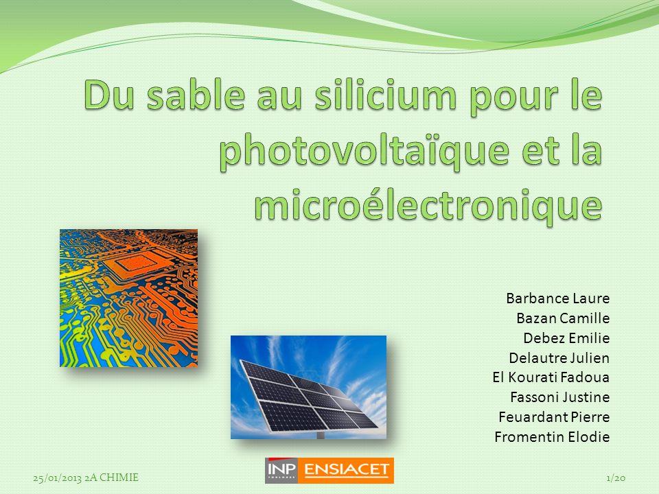 Du sable au silicium pour le photovoltaïque et la microélectronique