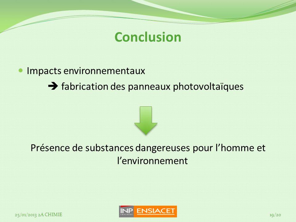 Présence de substances dangereuses pour l'homme et l'environnement