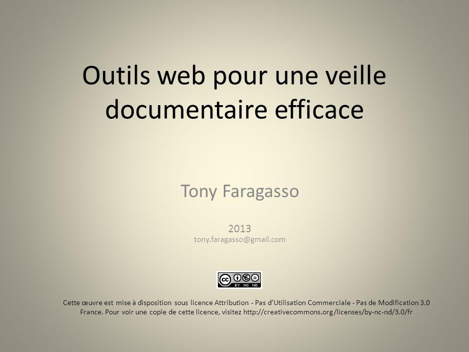 Outils web pour une veille documentaire efficace