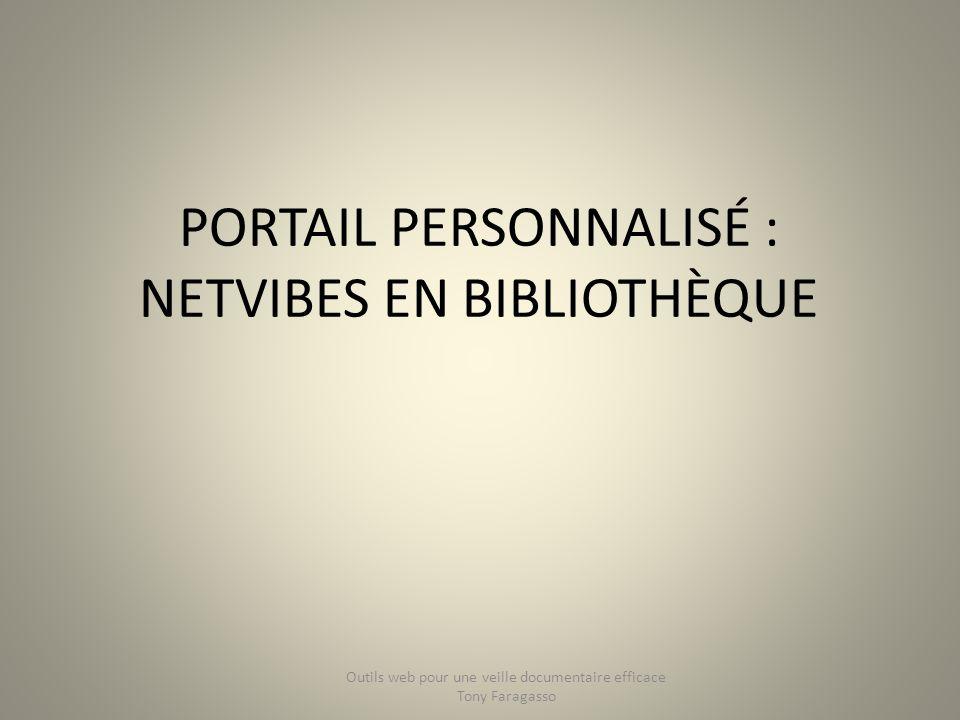 Portail personnalisé : Netvibes en bibliothèque