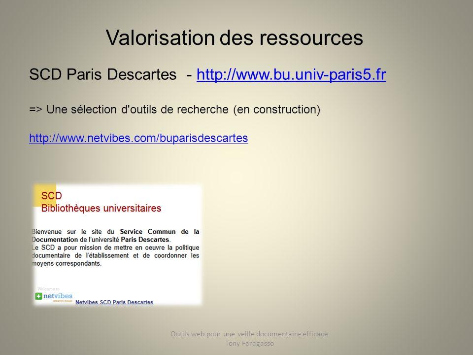 Valorisation des ressources