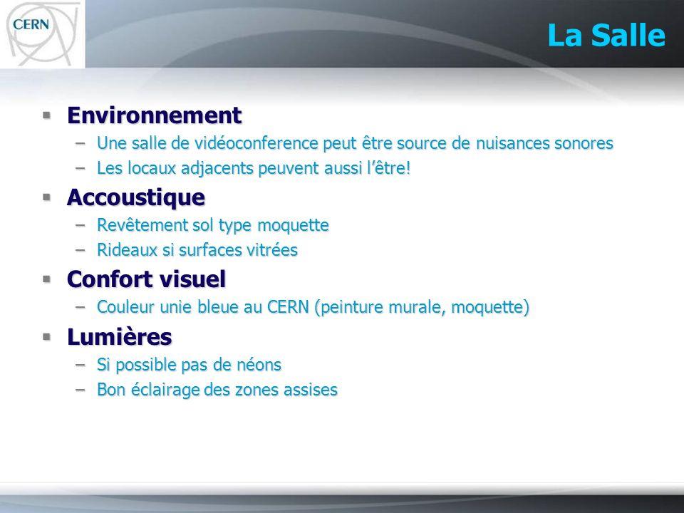 La Salle Environnement Accoustique Confort visuel Lumières