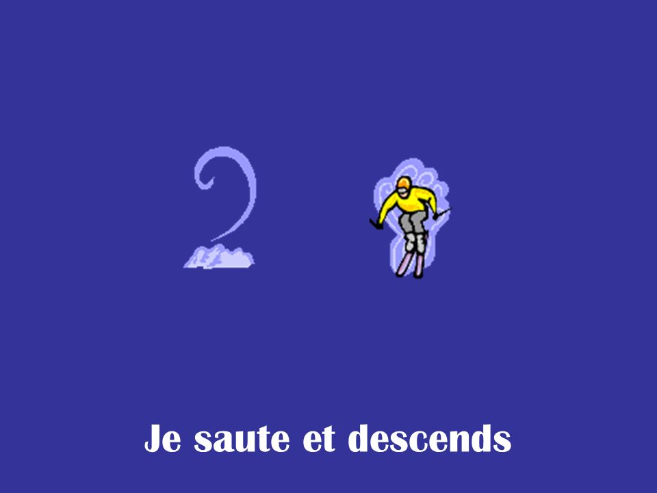 Je saute et descends