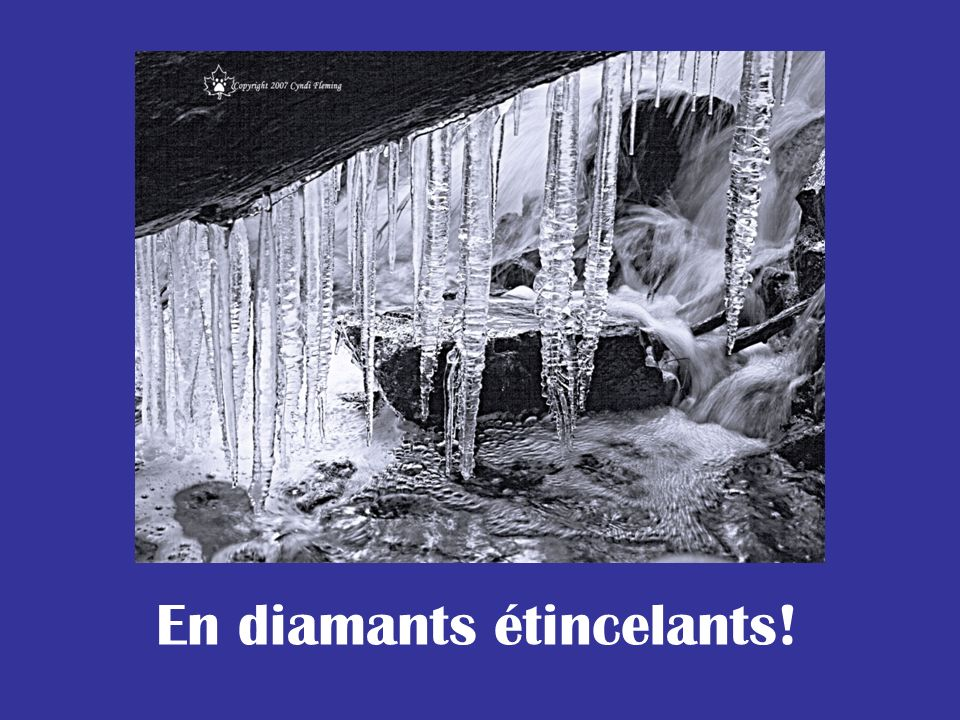 En diamants étincelants!