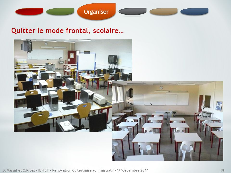 Quitter le mode frontal, scolaire…