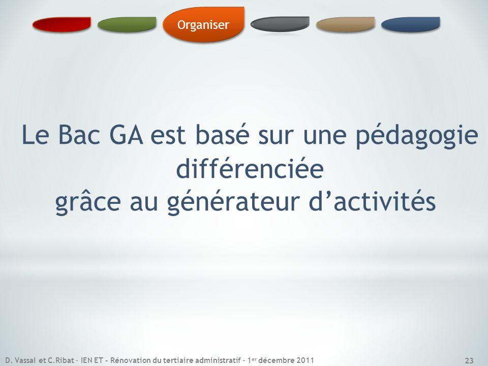 Le Bac GA est basé sur une pédagogie différenciée