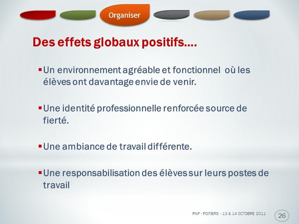 Des effets globaux positifs….