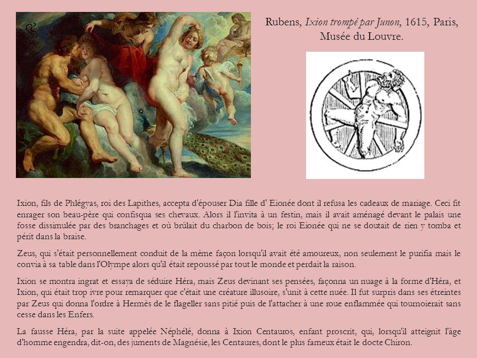 Rubens, Ixion trompé par Junon, 1615, Paris, Musée du Louvre.