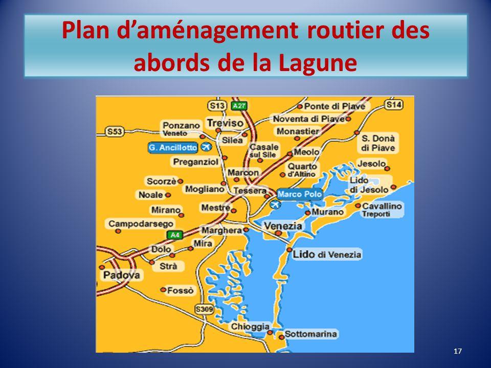 Plan d'aménagement routier des abords de la Lagune