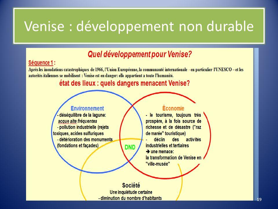 Venise : développement non durable
