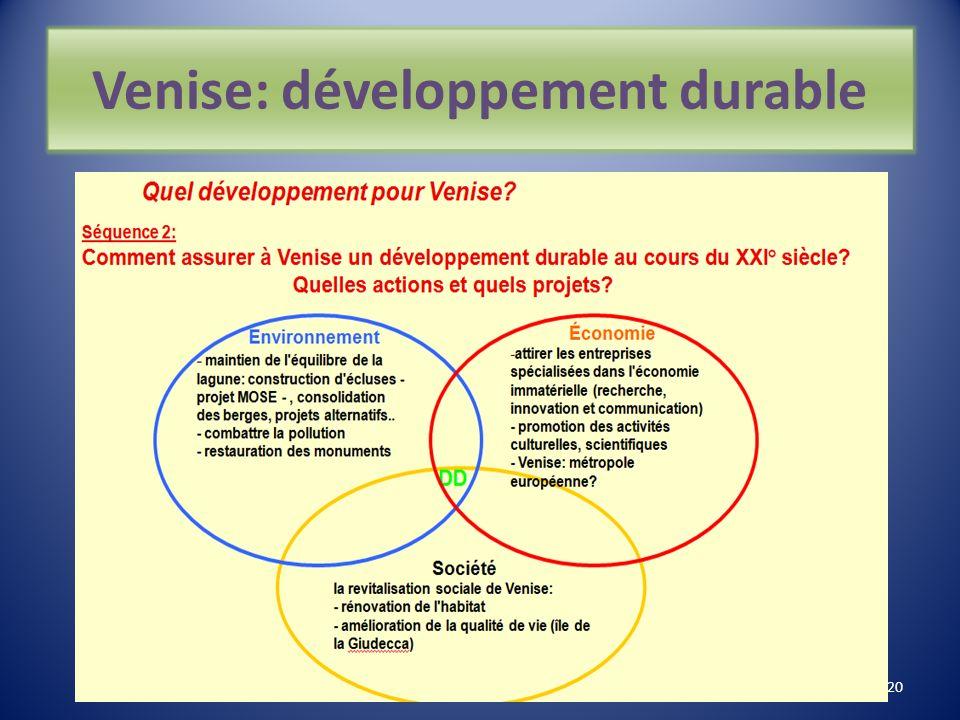 Venise: développement durable